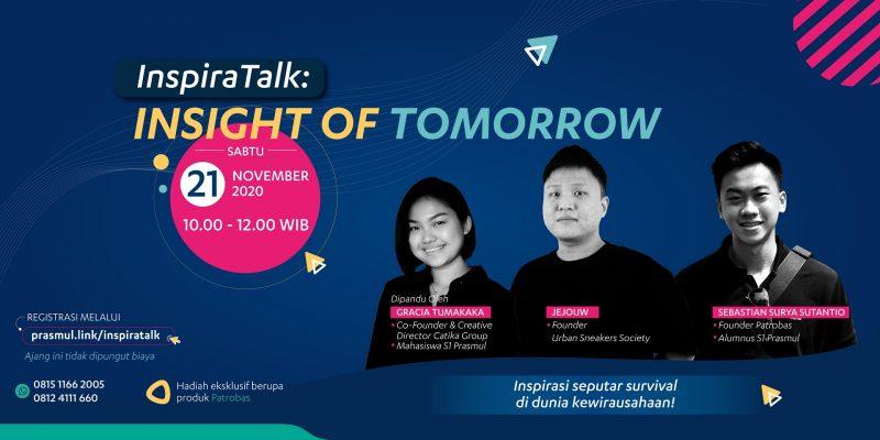 Web Banner InspiraTalk Insight of Tomorrow Universitas Prasetiya Mulya
