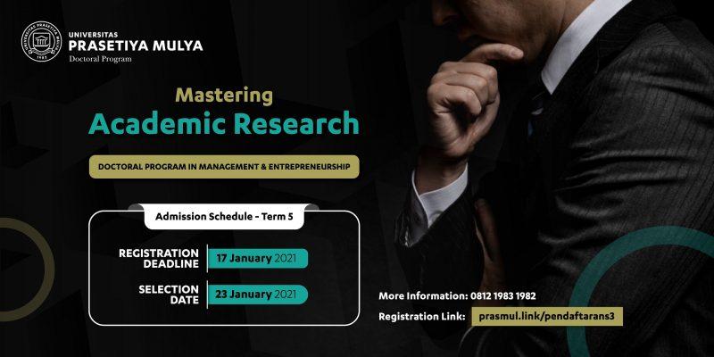 Web banner Tes gelombang 5 program Doktor Manajemen dan Kewirausahaan Prasetiya Mulya