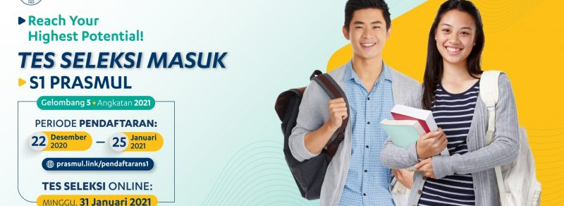 Web Banner Tes seleksi masuk mahasiswa S1 gelombang 5 angkatan 2021 Universitas Prasetiya Mulya