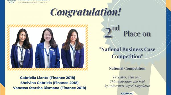 "Mahasiswa Sekolah bisnis dan ekonomi Universitas Prasetiya Mulya meraih juara ""National Business Case Competition"" UNY"